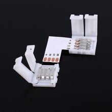 10pcs 10MM 4Pin Male LED Strip Light Lighting RGB Connector