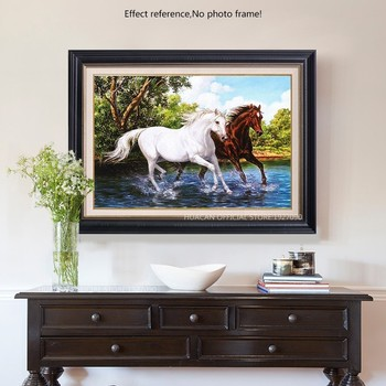 HUACAN Diamond Painting Horse Cross Stitch Diamond Painting Animal Mosaic Diamond Embroidery Decoration Home Patterns