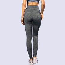 2019 Women Seamless high waist Gray for fitness Running Pants Workout sport Gym Trousers Yoga leggings цена