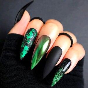 Image 5 - Paleta de lentejuelas para uñas, 12 rejillas, escamas irregulares de aluminio, pigmento de oro, decoración de uñas, láminas de brillo, CH950 1 de papel