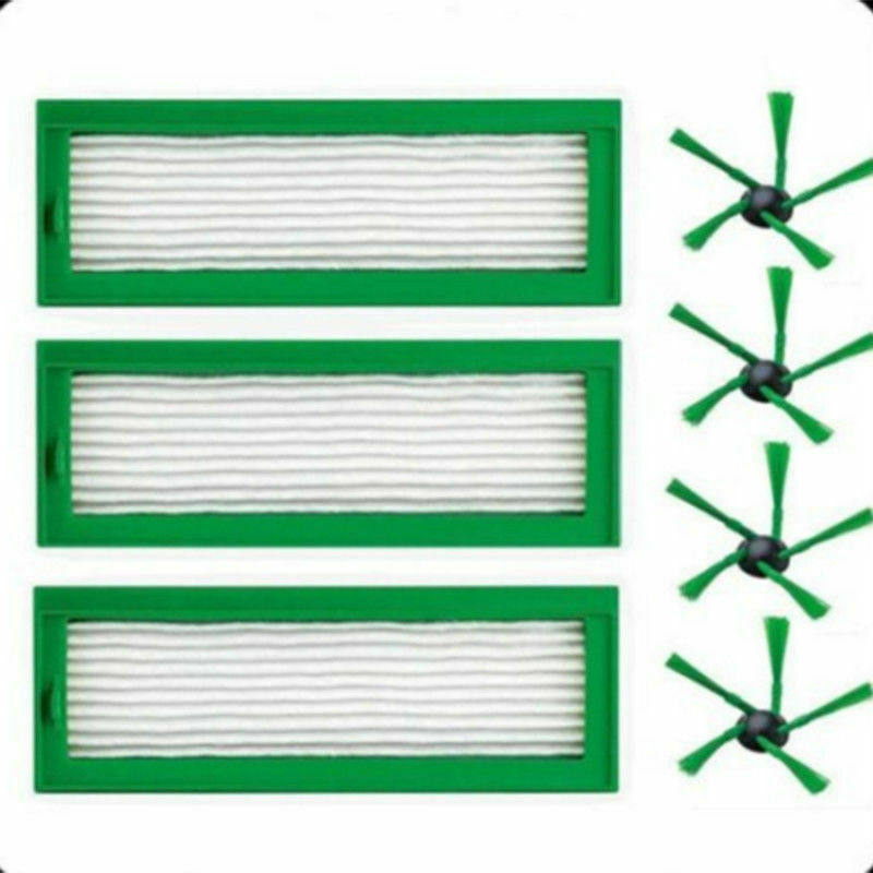 3 Filters 4 Side Brushes Vacuum Cleaner Home Tool For Vorwerk Kobold Vr2003 Filters 4 Side Brushes Vacuum Cleaner Home Tool For Vorwerk Kobold Vr200