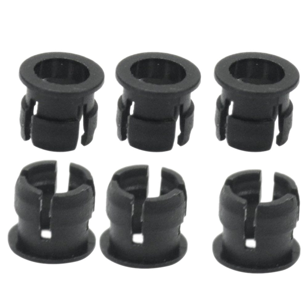 100 Pcs Lamp Base LED Light-emitting Diode Holder Flat Button Holder Black Plastic 5mm
