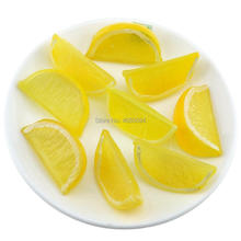 Gresorth 9 PCS Artificial Yellow Lemon Slice Fake Fruits Slices Home Table Cabinet Decoration