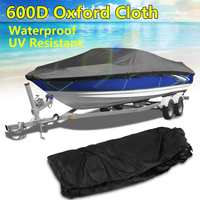 20ft 22ft 600D Boat Cover Heavy Duty Trailerable Outboard Engine Cover Beam 96 M Marine Grade Waterproof anti UV Protected