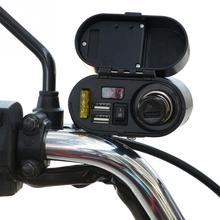Набор гнезд Принадлежности для мотоциклов водонепроницаемый прикуриватель зарядное устройство USB