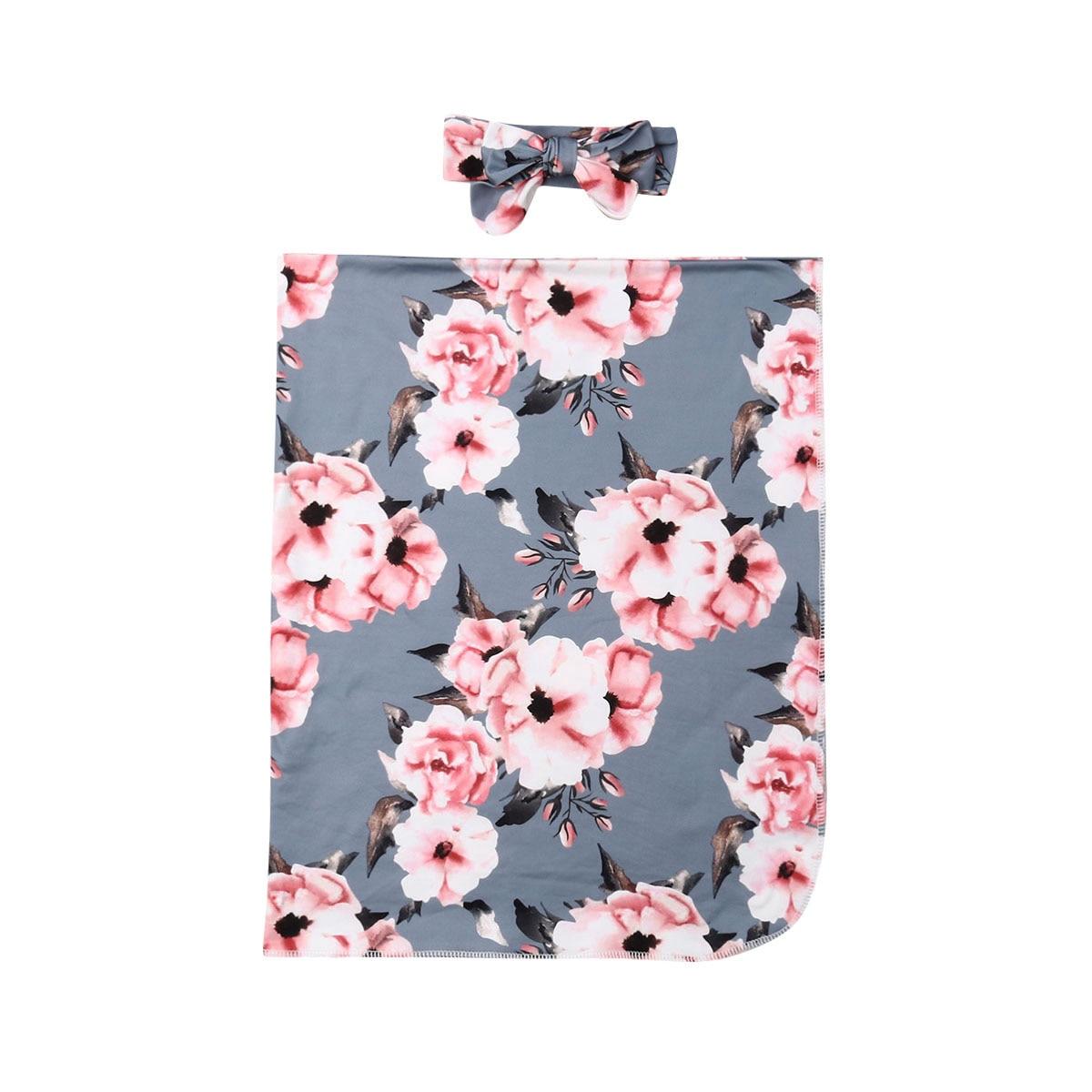 2019 Pudcoco Blume Neugeborenen Baby Mädchen Swaddle Wrap Blanket Schlafsack Stirnband 0-6 M 100% Hochwertige Materialien