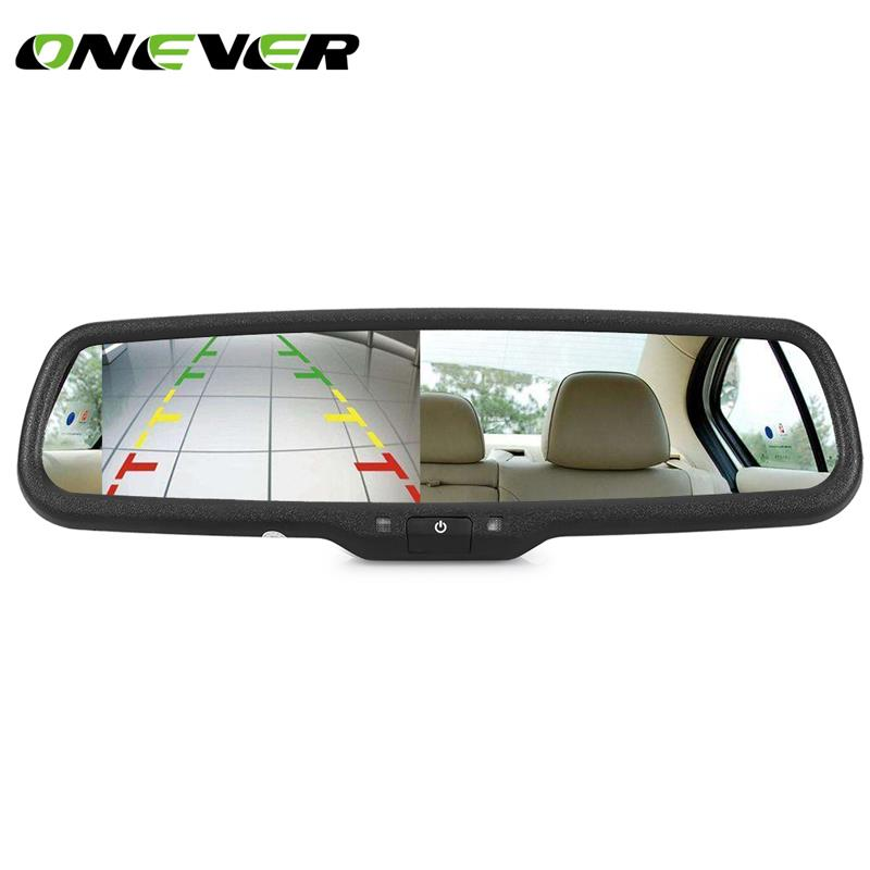 4 3 TFT LCD Rear View Car Mirror Car Rearview Back Up Mirror Monitor Screen Support