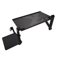 Портативный складной регулируемый стол для ноутбука стол компьютерный подставка, лоток для диван кровать черный