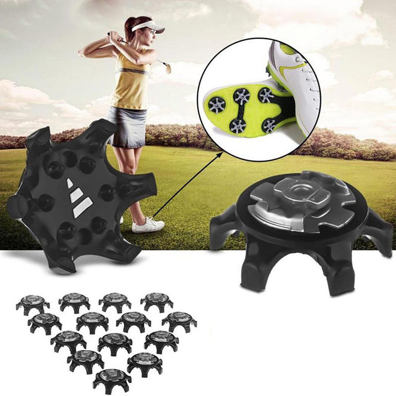 14pcs Golf Spikes Pins Fast Twist Shoe Spikes Durable Rubber Replacement Set Ultra Thin Cleats Pins Golf Shoes Training Aids