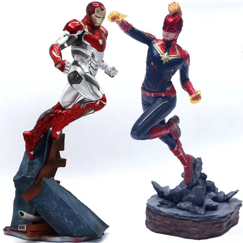 avengers-captain-font-b-marvel-b-font-22-27cm-thanos-ironman-spiderman-deadpool-danvers-statue-ko's-iron-studios-pvc-action-figures-toy-figure
