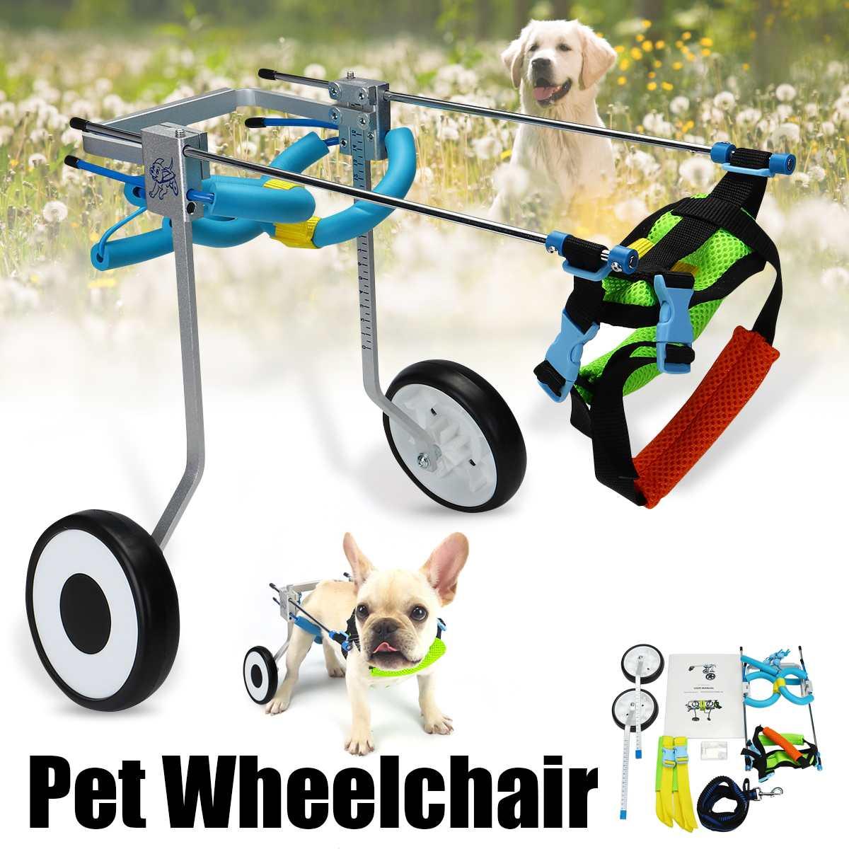 2 roue 5 Chien Chat En Fauteuil Roulant En Aluminium XS Modèle Marche Panier Scooter Pour Handicapés Patte arrière peut Ajusté pet Poids 3-15 kg