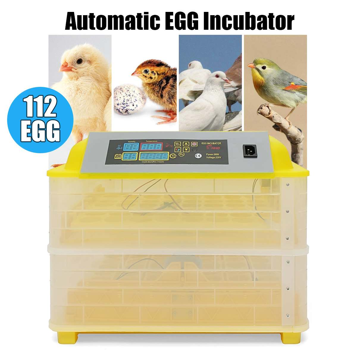 100 Вт 112 яйца электронные электронный инкубатор Хэтчер двойной слои авто инкубации курица/утка/голубиные яйца инкубатор 110 В/220 В