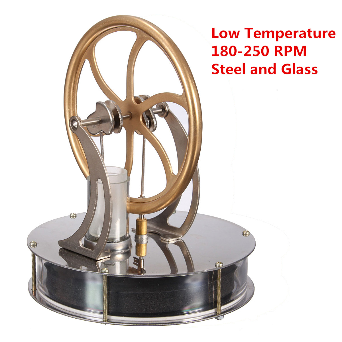 Low Temperature Stirling Engine Motor Model Cool No Steam Heat Education Toy Science Experiment Kit все цены