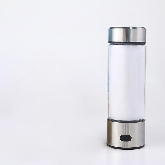 Adoolla 420ML Portable Electrolysis Hydrogen Generator Water Filter Bottle Glass 2