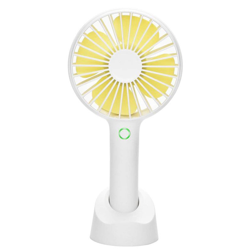 AFBC Handheld Portable Fan USB Hand held Personal Fans Rechargeable Battery Powered Hand held Fan with Base 4 Modes for Home O Decorative Fans     - title=
