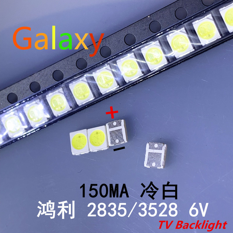 1000pcs/lot Hongli Tronic Led Backlight 1210 3528 2835 1w 6v 110lm Cool White Lcd Backlight For Tv Tv Application