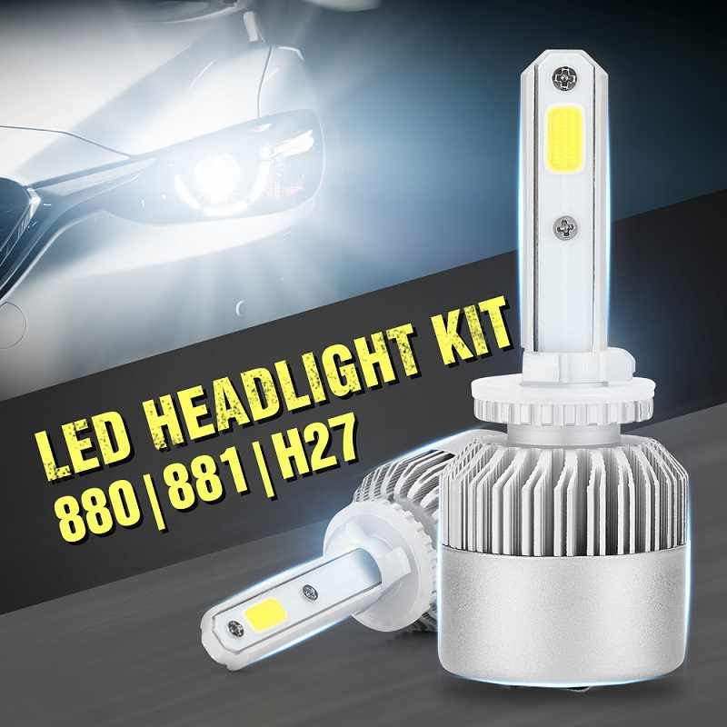 Zarpooz 2pcs/ Lot Car Headlights H1 H3 H4 Led H7 Led H8 H9 H11 880 881 9004 9005 9006 9007 Auto Bulbs Car Styling Lamp