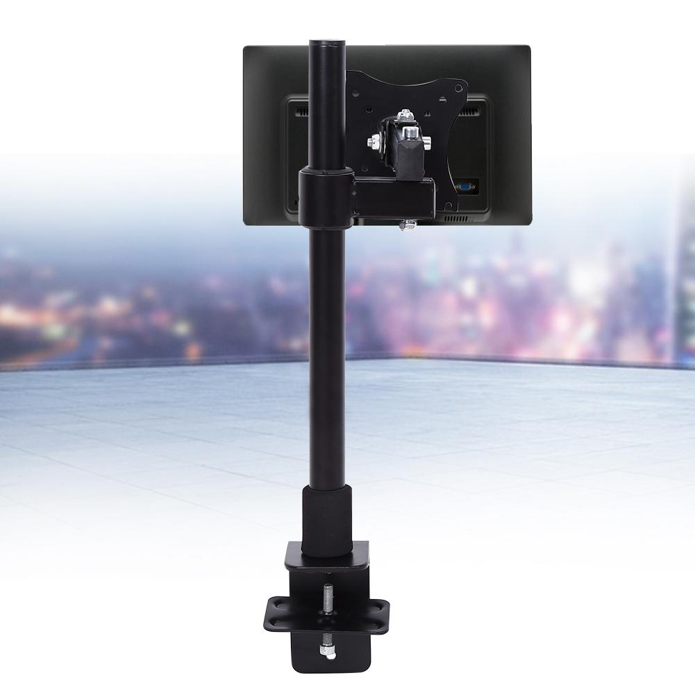 Monitor Stand Aluminium Arms Extend And Retract Support 13-27 Inch Monitor Adjustable Single LCD Screen Bracket