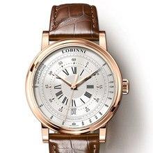 LOBINNI yeni erkekler saatler en lüks marka japonya ithalat NH35A SII O otomatik mekanik MOVT erkek saat safir reloj hombre L1018 3