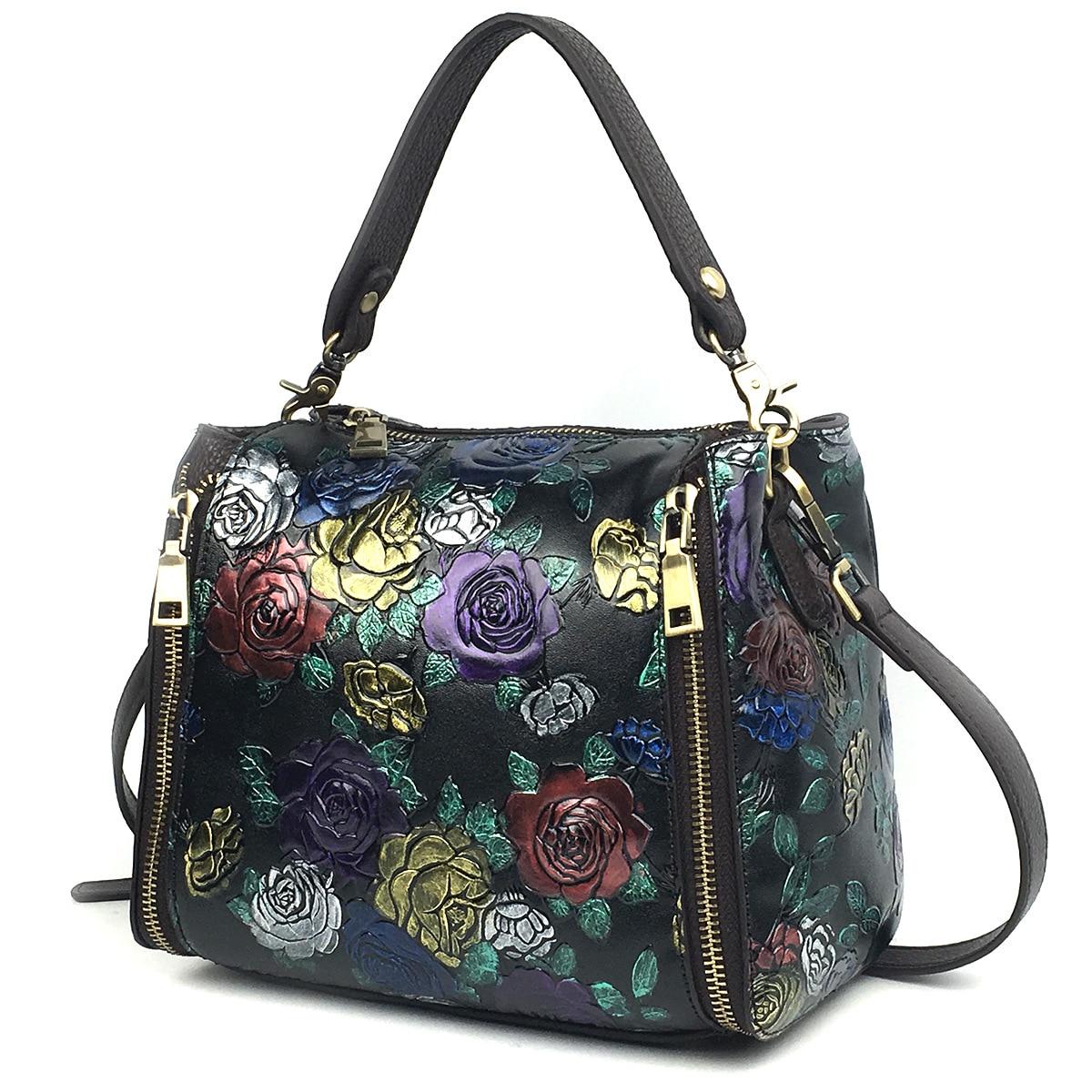 คุณภาพสูงของแท้หนังไหล่ด้านบนจัดการกระเป๋าผู้หญิง Messenger Real Cowhide Cross Body Tote กระเป๋ากระเป๋าถือ-ใน กระเป๋าสะพายไหล่ จาก สัมภาระและกระเป๋า บน   2