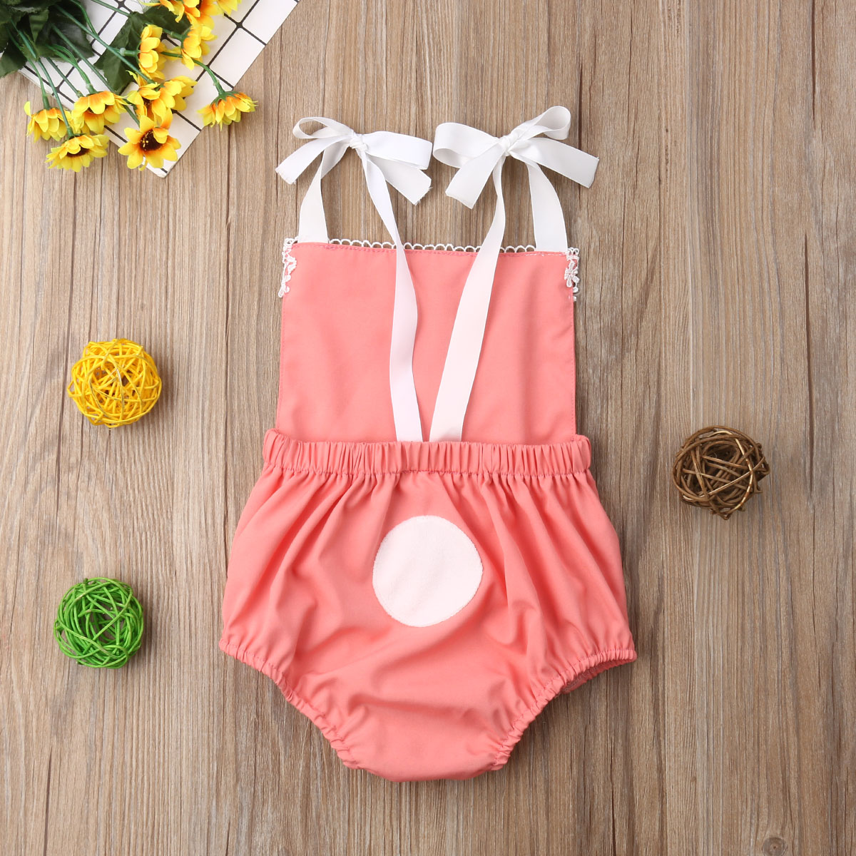 Rabbit Newborn Easter Babygirl Jumpsuit Outfits Toddler Clothes 3 6 9 12 18 Month-in Rompers