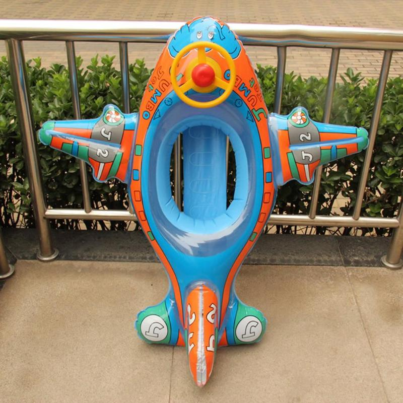 Cute Baby Swimming Seat Water Swimming Pool Boat With Steering Wheel Aid Trainer Float Water For Kids Cartoon Designs