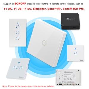 Image 5 - SONOFF Panel táctil de pared de lujo T433 86, 433MHz, transmisor inalámbrico de Control remoto RF, Módulos de Automatización, 1 banda