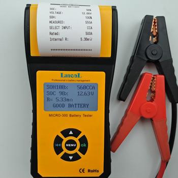 Micro-300 niezwykłe profesjonalnego Outillage elektroniczny Tester baterii gorąca sprzedaż Cca narzedzia samochodowe dla papier do druku tanie i dobre opinie lansl ABS plastic 75inch 12cm 0-1000A DC AC Testery akumulatora 1 5kg Internal resistance Conductance 6-30DCV 11 5inch Battery tester
