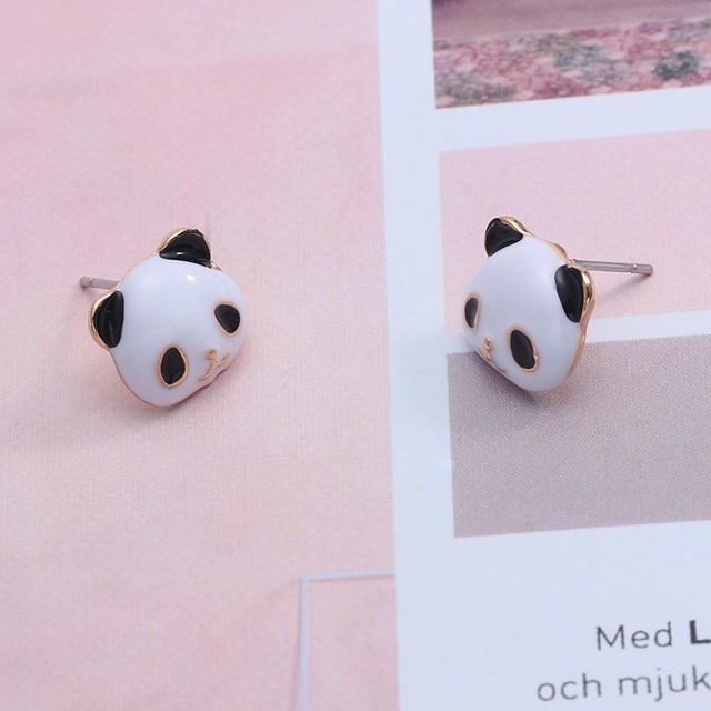 Kawaii Panda Patterned Earrings