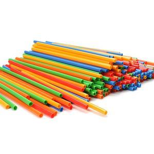 Image 5 - 300 個わらコンストラクタ連動 Enginnering おもちゃストローとコネクタセットキッズ教育おもちゃ