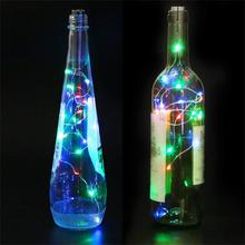 NEW SAFE Starry Copper Wire String Light Valentines Day Home Decoration LED Wine Bottle Cork D20