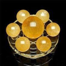 Natural citrine seven-star array ornaments original stone home decorations Crystal ball crafts