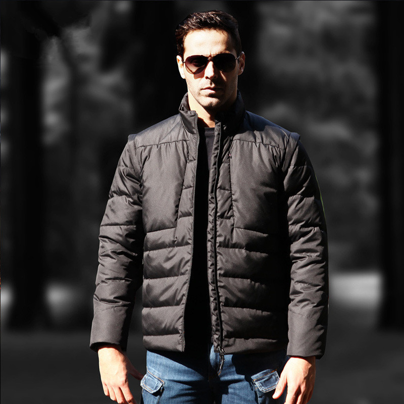 Winter Mens Tactical Detachable Thermal Down Jacket Outdoor Training Climbing Riding Hunting Camp Waterproof Warm Windproof Coat