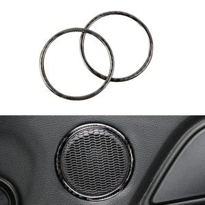 Image 3 - Für Ford Mustang 2015 2016 2017 2 stücke Carbon Faser Auto Innen Tür Audio Lautsprecher Ring Streifen Decor Abdeckung