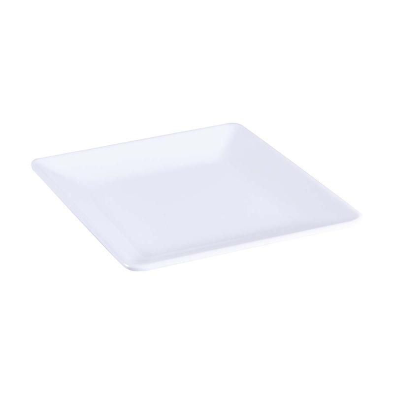 1PC Dish Plastic White Multifunction Melamine Cutlery Dinnerware Plate for Restaurant Home Kitchen