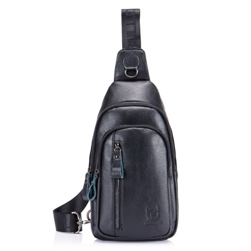 BULLCAPTAIN Crossbody Fashion Bags Genuine Leather Men's Brand Men's Music Bags Small Shoulder Bag Men's Shoulder Bag Messenge