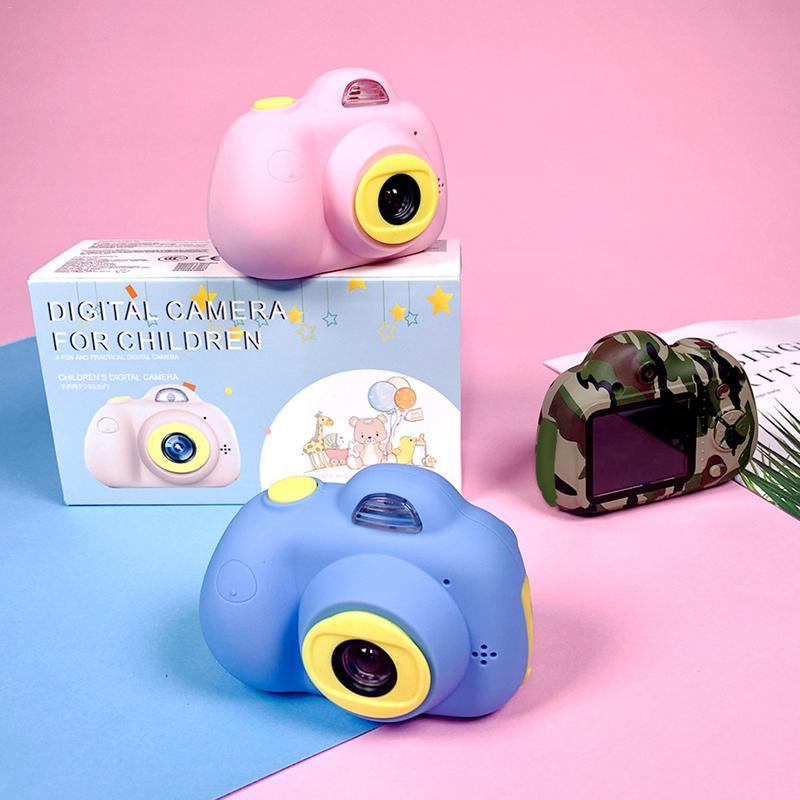 Enfants mignon Animal jouet caméra Mini appareil photo numérique petit reflex Double-lentille sport jouet caméra pour enfants