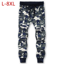 цена на 8XL Camouflage Men Brand Pants 2019 Casual Cotton Comfortable Male Elastic Waist Stretch Camo Army Long Classic Trousers For Men