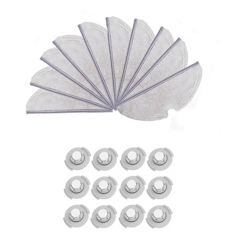 Suitable for Xiaomi Roborock S50 S51 Robot Vacuum Cleaner 2 Spare Parts Kits Mopping Cloth x10 Water Tank Filterx12 ReplacemenSuitable for Xiaomi Roborock S50 S51 Robot Vacuum Cleaner 2 Spare Parts Kits Mopping Cloth x10 Water Tank Filterx12 Replacemen