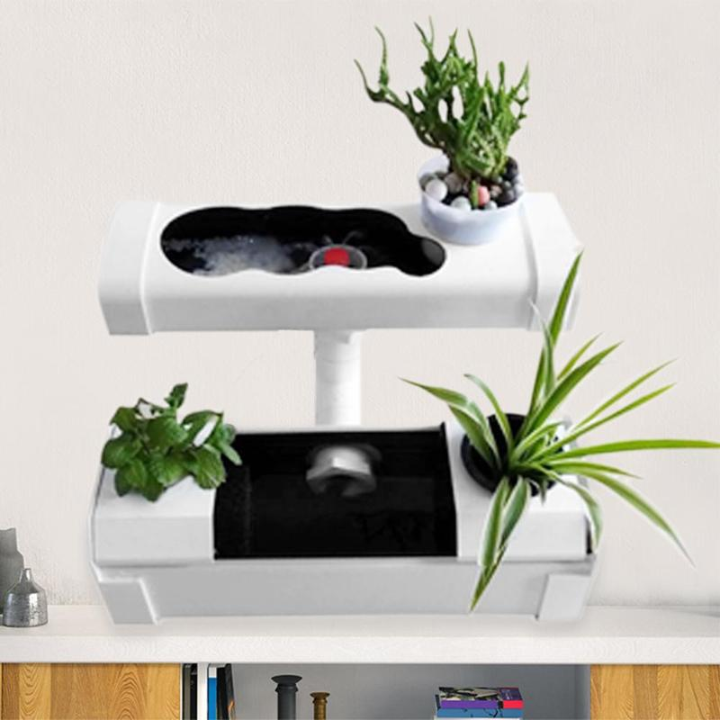 Bricolage 110 V Site végétal systèmes hydroponiques Mini Pots de pépinière US Plug fleurs Plante outils de culture outils d'évaluation de jardinage