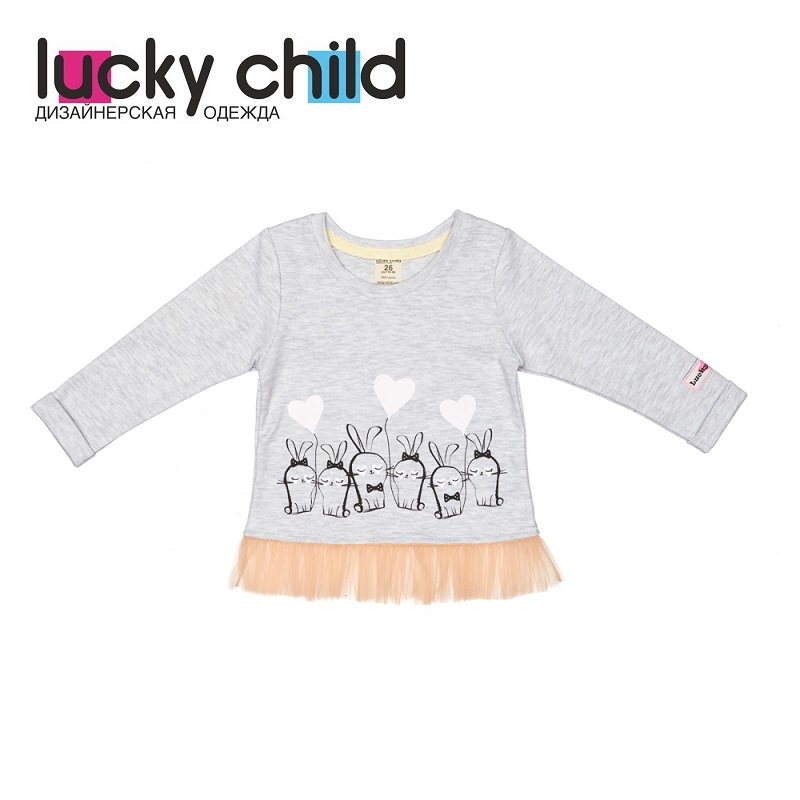 Hoodies & Sweatshirt Lucky Child for girls and boys 54-19 Kids Children clothes Jersey Blouse [available with 10 11] vest jersey for boys