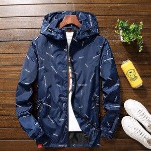 Image 2 - Nuovi uomini giacca con cappuccio Giubbotti Più Il Formato 10XL 9XL 8XL 7XL gli uomini Giacca A Vento Casual Cappotto per Uomo Tuta Sportiva Streetwear giacca
