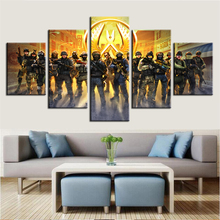 Modern Living Room Wall Art Modular Canvas Painting 5 Pieces Counter Strike Game Poster Pictures Home Decorative Frames