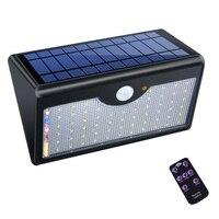 60 Led ソーラーライトモーションセンサーライトワイヤレスリモートコントロール防水屋外ウォールライトガーデンライト -