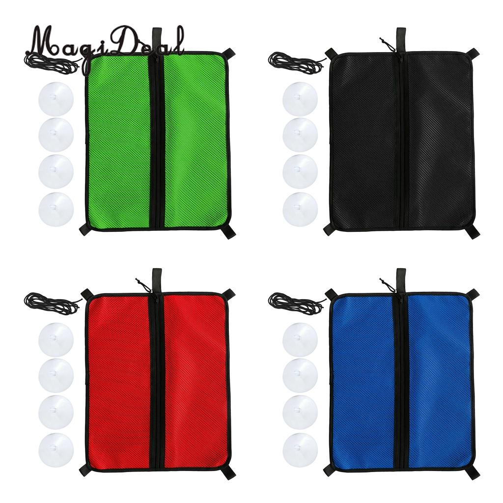 SUP Mesh Deck Bag Deck Storage Bag Stand Up Paddle Board Pouch + 4Pcs Suction Cup + Elastic Bungee Rope Attachment Kit image