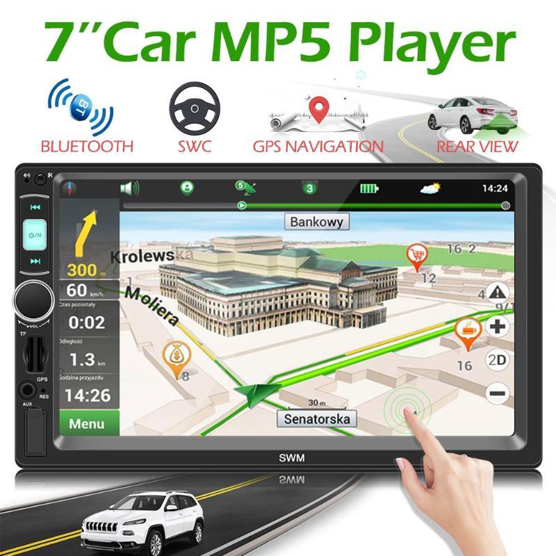 SWM X4G 7 pouces 2 Din Bluetooth voiture stéréo lecteur MP5 GPS Navigation tête unité récepteur FM Radio universel voiture Audio lecteur EU carte
