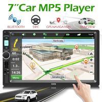 SWM X4G 7inch 2 Din Bluetooth Car Stereo MP5 Player GPS Navigation Head Unit Receiver FM Radio Universal Car Audio Player EU Map