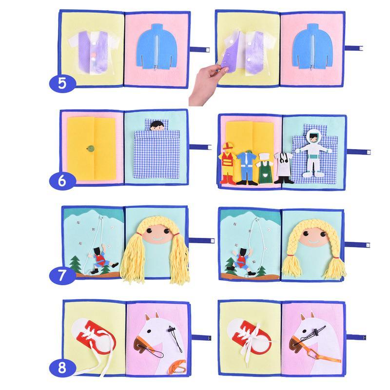 Livre en tissu doux pour enfants 3D livre à pansements Non tissé Puzzle d'intelligence manuel livre de jouets pour enfants - 3