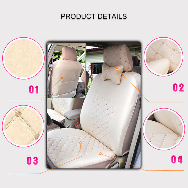 1 set Universal Automobile Seat Cover Five-seater Car Chair Covers Front Rear Protective Case Fit Ford Focus Volkswagen Passat 1