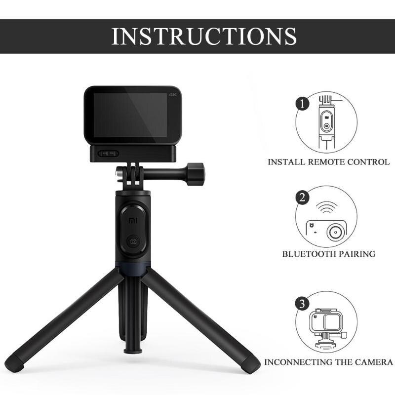 1 Set Xiaomi Mijia Tragbare Bluetooth Selfie Stick Erweiterbar Stativ Einbeinstativ Für Mijia Kleine Kamera Kleine Kamera Wasserdicht Fall Knitterfestigkeit